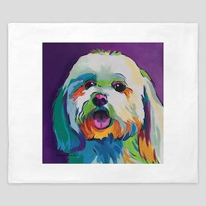 Dash the Pop Art Dog King Duvet