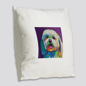 Dash the Pop Art Dog Burlap Throw Pillow
