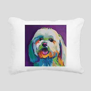 Dash the Pop Art Dog Rectangular Canvas Pillow