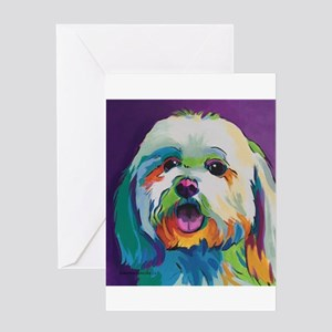Dash the Pop Art Dog Greeting Cards