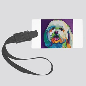 Dash the Pop Art Dog Large Luggage Tag