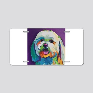 Dash the Pop Art Dog Aluminum License Plate