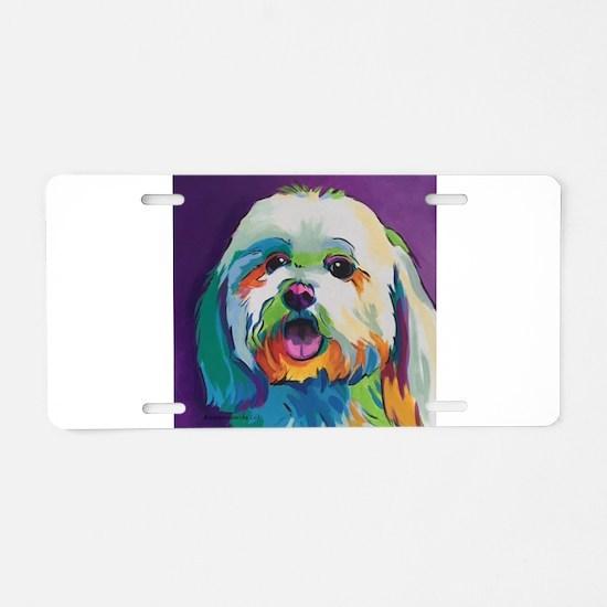 Dash the Pop Art Dog Aluminum License Plate