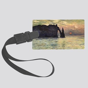 Claude Monet, Cliff Etretat Suns Large Luggage Tag