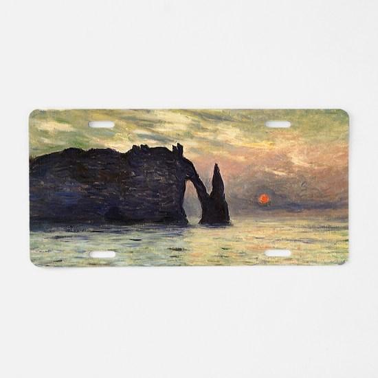 Claude Monet, Cliff Etretat Aluminum License Plate