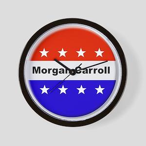 Vote Morgan Carroll Wall Clock