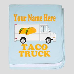 Taco Truck baby blanket