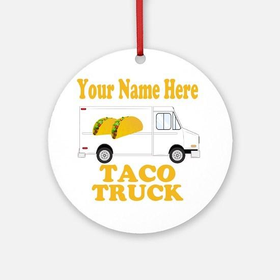 Taco Truck Round Ornament