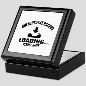 Motorcycle Racing Loading Please Wait Keepsake Box