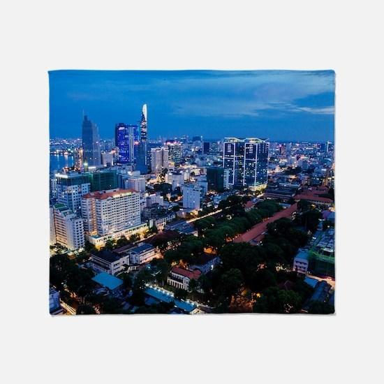 night Ho Chi Minh city Throw Blanket
