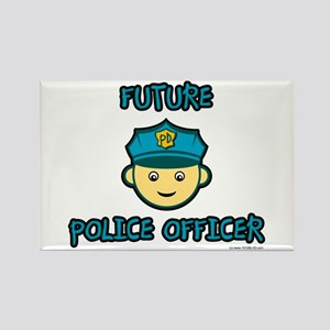 Future Police Officer Rectangle Magnet