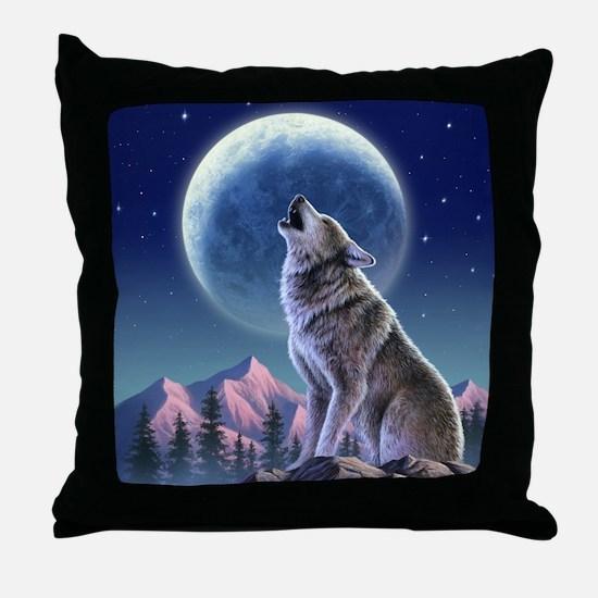 Howling Wolf 1 Throw Pillow