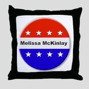 Vote Melissa McKinlay Throw Pillow