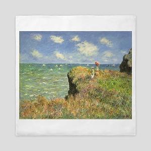Seascape by Claude Monet Queen Duvet