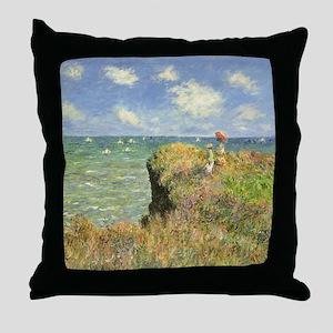 Seascape by Claude Monet Throw Pillow
