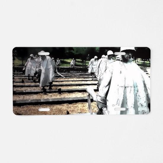 Korean War Veteran Memorial Aluminum License Plate