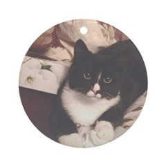 Get Well Soon Cat Round Ornament