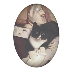 Get Well Soon Cat Oval Ornament