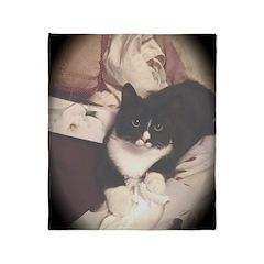 Get Well Soon Cat Throw Blanket