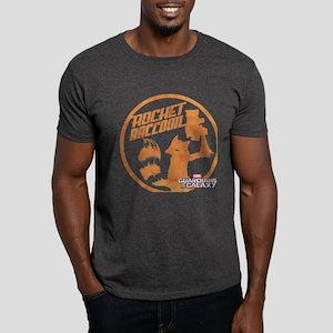 GOTG Comic Rocket Retro Dark T-Shirt