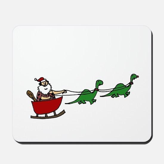 Funny Caveman Santa Mousepad