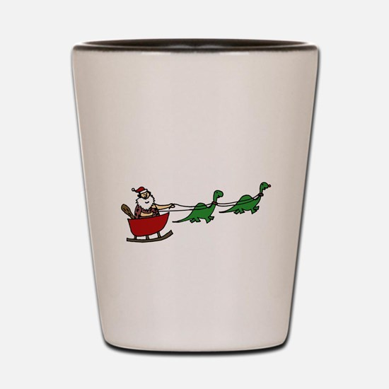 Funny Caveman Santa Shot Glass