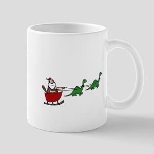 Funny Caveman Santa Mugs