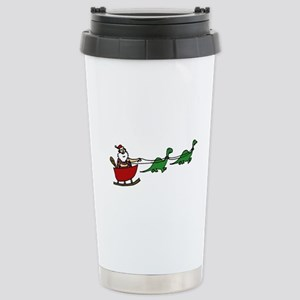 Funny Caveman Santa Stainless Steel Travel Mug