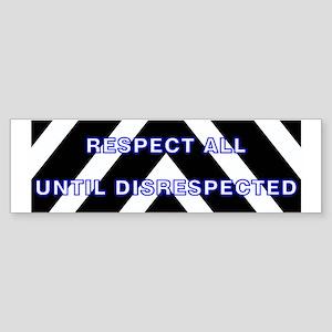 Police -Blue-Respect Until Bumper Sticker