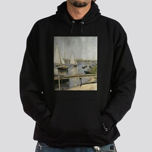 Caillebotte Sailing Boats at Argente Hoodie (dark)