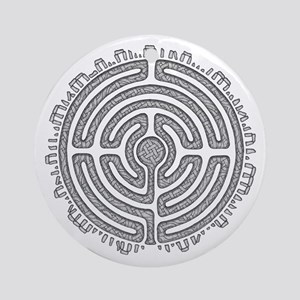 Celtic Labyrinth Mandala Round Ornament