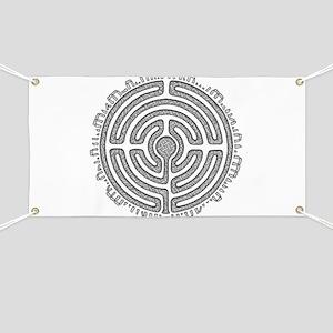 Celtic Labyrinth Mandala Banner