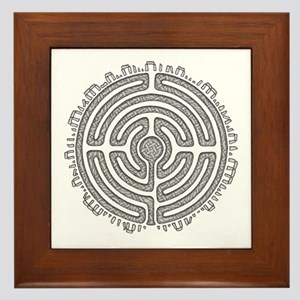 Celtic Labyrinth Mandala Framed Tile
