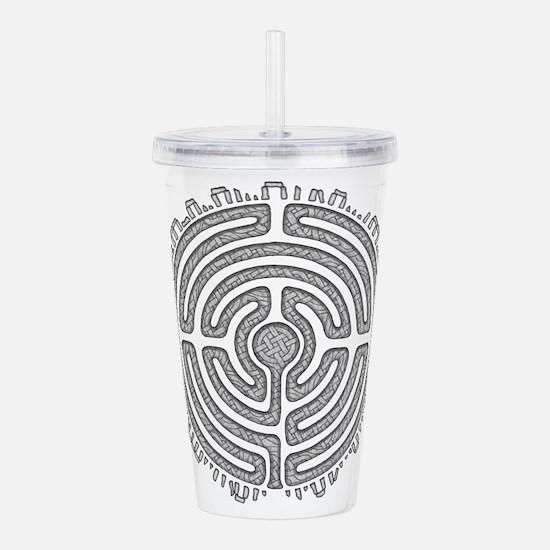 Celtic Labyrinth Mandala Acrylic Double-wall Tumbl