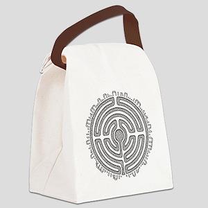 Celtic Labyrinth Mandala Canvas Lunch Bag