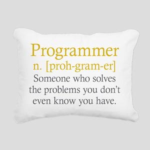 Programmer Definition Rectangular Canvas Pillow