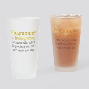 Programmer Definition Drinking Glass