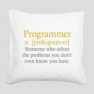 Programmer Definition Square Canvas Pillow