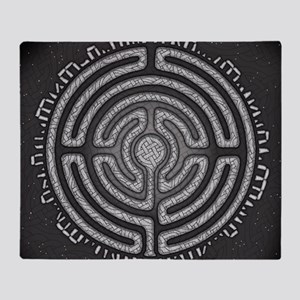 Celtic Labyrinth Mandala Throw Blanket