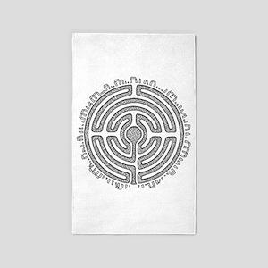 Celtic Labyrinth Mandala Area Rug