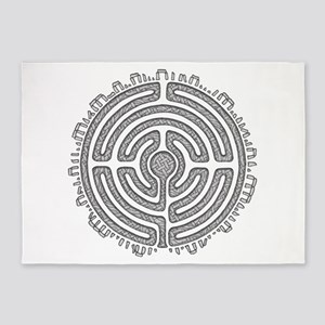Celtic Labyrinth Mandala 5'x7'Area Rug