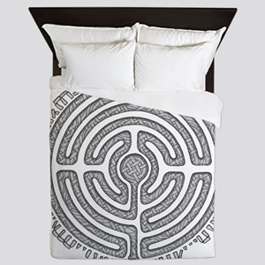 Celtic Labyrinth Mandala Queen Duvet