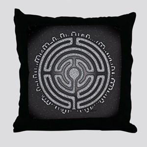 Celtic Labyrinth Mandala Throw Pillow