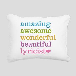 Amazing Lyricist Rectangular Canvas Pillow