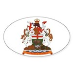 Manitoba Coat of Arms (Big) Oval Sticker