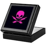 Pink Lightning Bolt Jolly Roger Treasure Chest