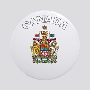 Canada Coat of Arms Ornament (Round)