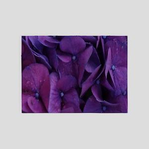 Purple Hydrangea 5'x7'Area Rug