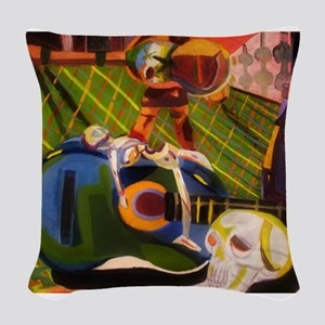 Fragmented Life Woven Throw Pillow