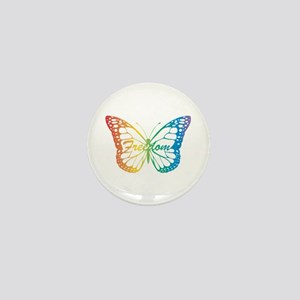 Freedom Butterfly Mini Button